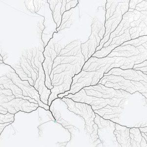 La mappa dimostra il detto: tutte le strade portano a Roma
